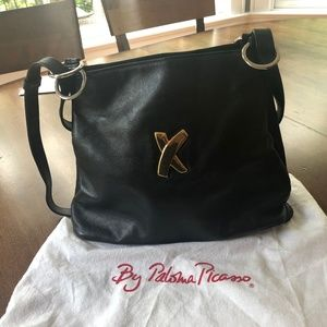 Navy Paloma Picasso Shoulder Bag